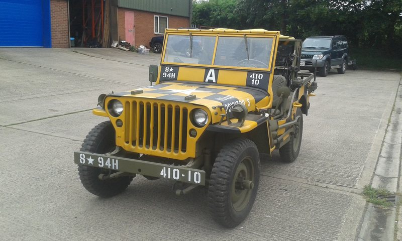 """1943 WILLYS MB """"FOLLOW ME """"JEEP SOLD"""